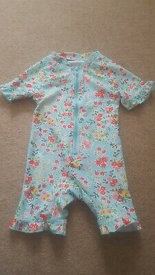 Girls 12-18 Months New Without Tags Swimsuit/Rash Suit/All in one swimming...
