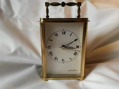 A Vintage Atracttive Quartz Carriage Clock By Seth Thomas Of Scotland 130mm Tall