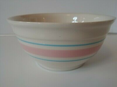 McCoy Mixing Oven Proof Bowl #7 Pink and Blue Stripe