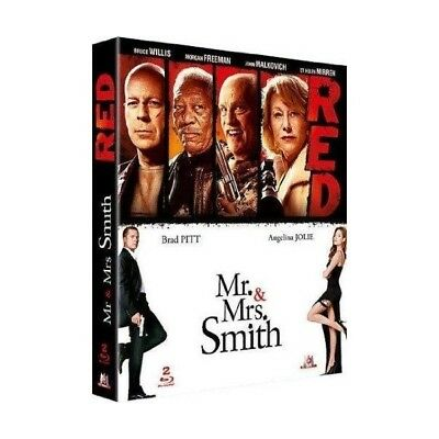 Red + Mr. & Mrs. Smith - Coffret Bluray X2 - Neuf Sous Blister