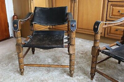 2 middle eastern leather chairs