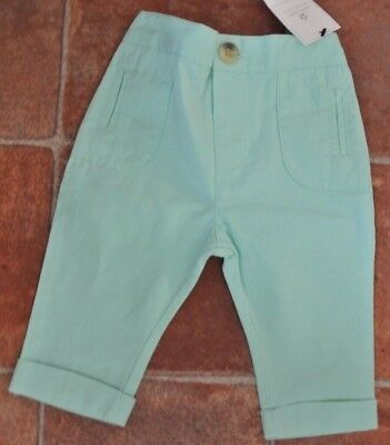 New Next baby girls 100% cotton Trousers mint green 3-6 months