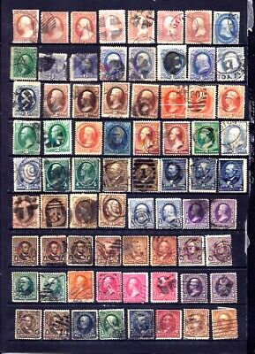 US Stamps - Nice Group of 92 USED 19th Century Issues