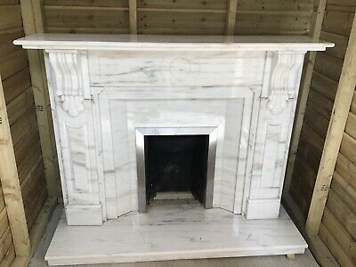 Marble  Fireplace surround With Hearth