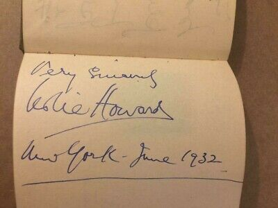 Leslie Howard Very Rare Autographed Page GWTH Petrified Forest From 1932