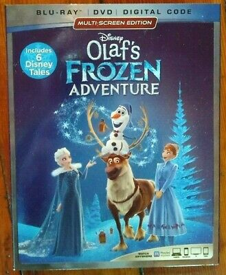 Disney Olaf's Frozen Adventure Blu-ray + DVD + Digital Code BRAND NEW