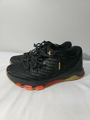 premium selection f6a03 8e367 Nike KD 8 EXT Woven black gold crimson Men s Sz 8 806393 001 QS