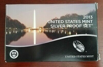 2013-S Us Mint 14 Coin Silver Proof Set ~ With Parks & Presidents ~ Ogp