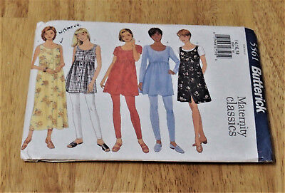 7ab5d18387996 SEWING PATTERN BUTTERICK 6736 Maternity Dress Skirt Top Classic 12 ...