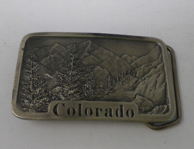 Vintage Colorado State Belt Buckle Indiana Metal Craft 1978 USA 3D Relief