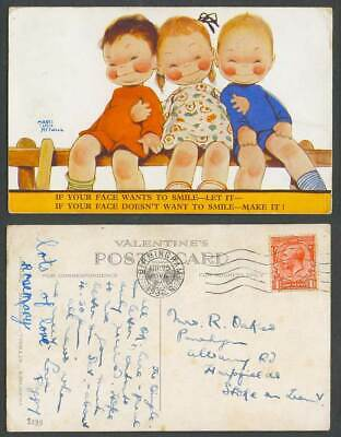 MABEL LUCIE ATTWELL 1932 Old Postcard If Your Face Wants to Smile - Let It 2135