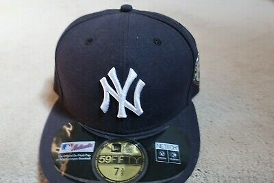816a3a5bce4a7 New York Yankees New Era Fitted Hat 7 3 8 Derek Jeter Retirement Side Patch