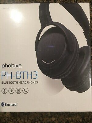 0f715567241 Photive BTH3 Over-The-Ear Wireless Bluetooth Headphones with Built-in Mic  and