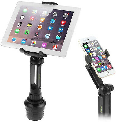 Cup Mount Holder iKross 2-in-1 Tablet and Smartphone Adjustable Swing Cradle -