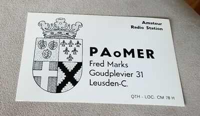 Vintage Postcard Qsl card Amateur Radio Station Paomer Leusden The Netherlands