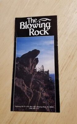 Vintage The Blowing Rock Highway 321 North Carolina Brochure  Map Legend Rare NC