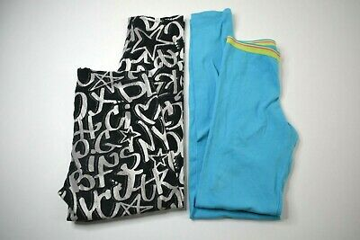 Lot of 2 City Street Fruit Of The Loom Junior GIrls M Long Capri Leggings Set
