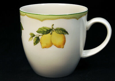 Mikasa Optima Fruit Rapture Super Strong China 7oz. Coffee Cup Lemons, Cherries