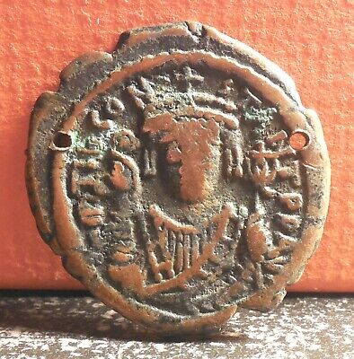 Very Nice 527 565 Justinian I Constantinople Byzantine Large M Follis Coin
