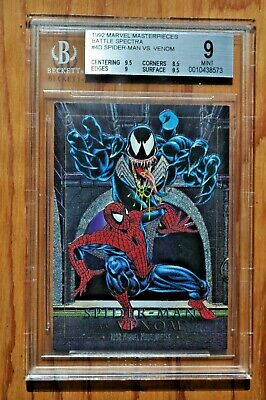 1992 Marvel Masterpieces 4-D Spider-man Vs Venom (Beckett Graded 9.0).