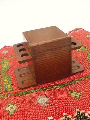Mission Oak Arts & Crafts Tobacco Humidor and Pipe Rack ~ Quarter Sawn Oak