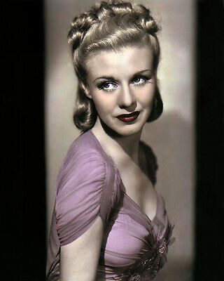 "GINGER ROGERS STAGE DOOR 1937 HOLLYWOOD ACTRESS 8x10"" HAND COLOR TINTED PHOTO"