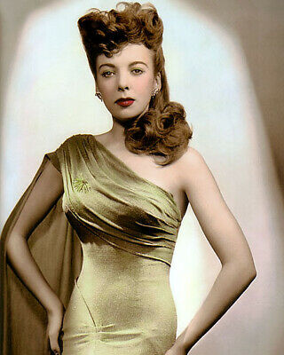 "IDA LUPINO ENGLISH AMERICAN FILM ACTRESS 8x10"" HAND COLOR TINTED PHOTOGRAPH"