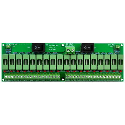 18 Channels 12V/24V 20A Power Distribution Fuse Module, For CCTV Security Camera