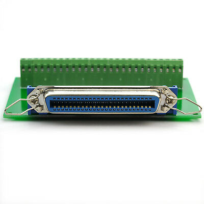 "50-Pin 0.085"" Centronics Female Ribbon Connector Breakout Board."