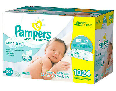 Pampers Sensitive Baby Wipes 1024 ct, 16 refill packs