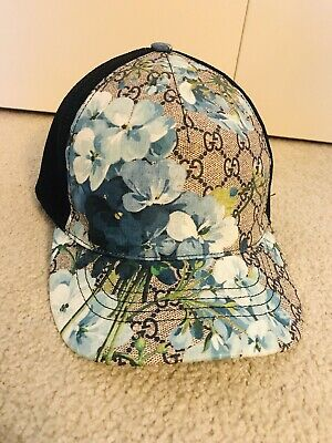 3e51dcdd0f07a GUCCI GG Supreme Monogram Blooms Print Baseball Hat Medium