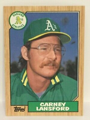 Carney Lansford Oakland Athletics Personally Autographed