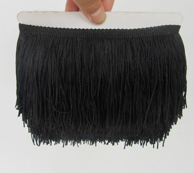 BULK 10M Black 15cm Braid Trim Tassel Fringe DIY Price per 10m DIY Costume Dance