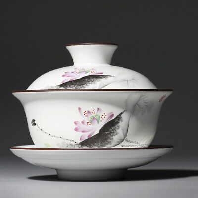Chinese Jingdezhen Blue and White Porcelain Ceramic Kung Fu Tea Cup & Saucer Set