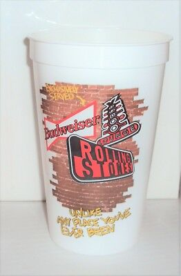 """1994 ROLLING STONES VOODOO LOUNGE TOUR CUP 5 1/2"""" Tall ~ Budweiser Beer ~ Nice"""