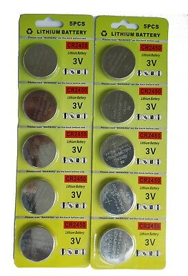 EX-ENERGY CR2450 Lithium 3V Batteries Coin and Button Cell (2 x Pack of 5) 10PCS