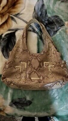 1b0e86876da7 MICHAEL KORS PYTHON Snakeskin Leather Shoulder Bag Handbag Slouch ...