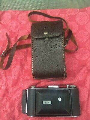 VINTAGE ENSIGN SELFIX 420 FOLDING CAMERA With LEATHER CASE