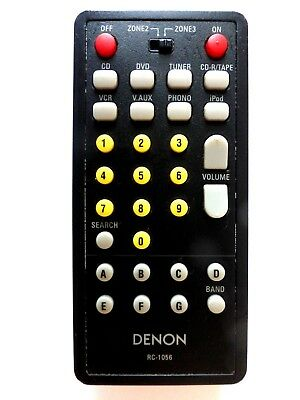 DENON STEREO AM/FM RECEIVER REMOTE CONTROL RC-1056 for DRA697CI