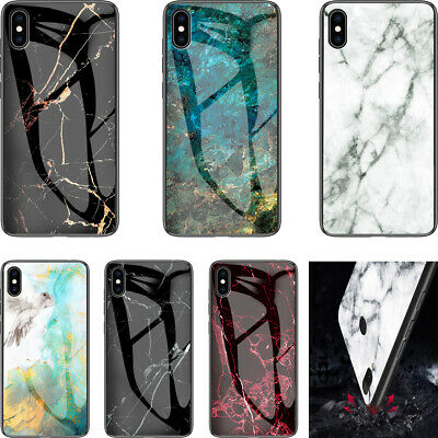 Creative Fashion Marble Pattern Glass Back Hard Case Cover For Lot Samsung