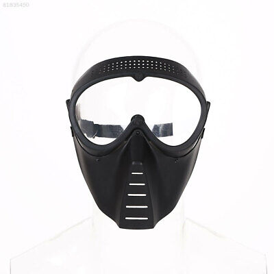 77EB Protective Airsoft Paintball Tactical Full Face Safety Mask Helmet Clear Le