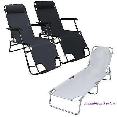 Zero Gravity Folding Recliner outdoor garden Patio Lounge Chair Beach Bed