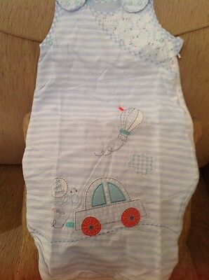 Mothercare Little Beep Beep Age 0-6 Months 1 Tog Snoozie Sleeping Bag...bnwt