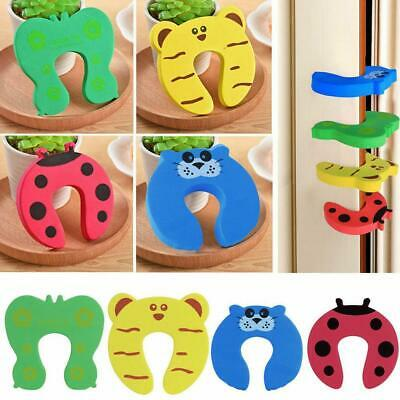 10PCS Children Baby Safety Cartoon Door Stopper Clip Clamp Pinch Hand Security.