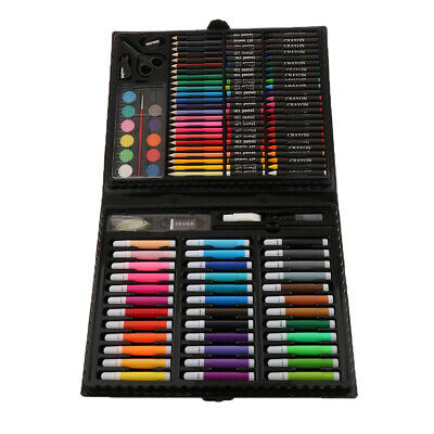 150PC Colorful Pencil Wax Crayon Oil Painting Brush Kid Drawing Pen Tool Set