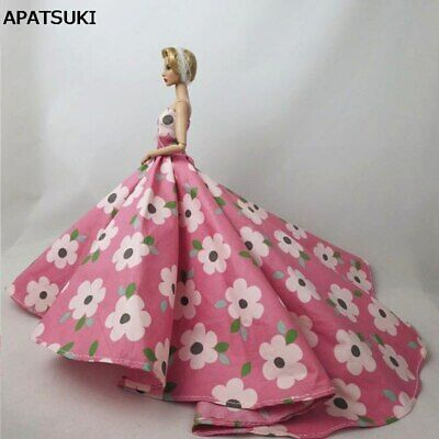 """Pink Flower Floral Doll Clothes Wedding Dress For 11.5"""" Dolls Clothes Outfits"""