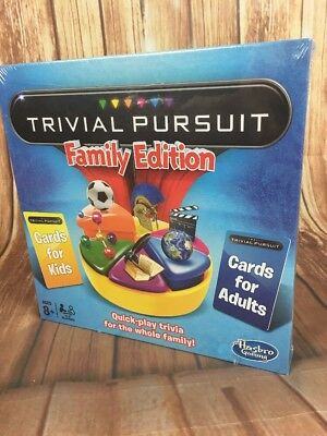 Trivial Pursuit Family Edition Board Game from Hasbro Gaming Christmas Gift 8+