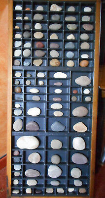 Printers Type Tray Vintage Collection of Pebbles from around the World