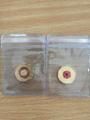 2018 2019 $2 dollar Armistice Remembrance & 100 Years of Repatriation Coins Set