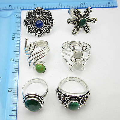 Wholesale purchase Mix Styles ! Silver Plated 6Pcs Rings FREE SHIPPING